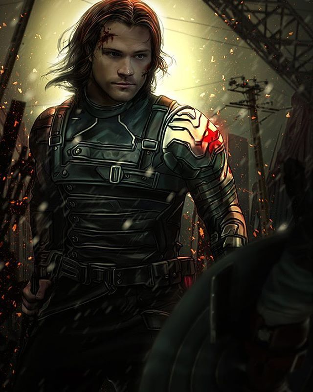 Jared Padalecki as The Winter Soldier. (2016) <----Well this just totally made my day! Love it! ♡