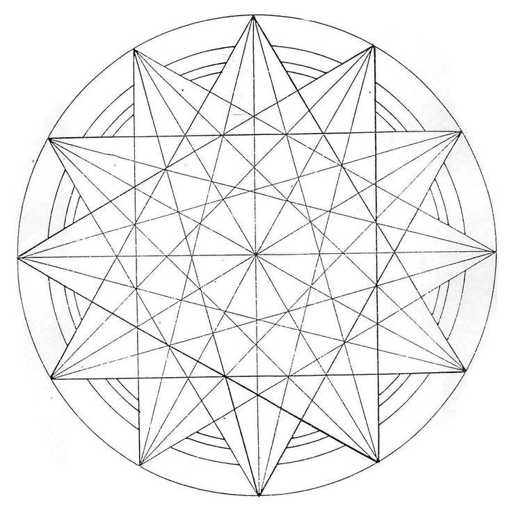 Звезда в круге | Раскраски мандала, Геометрическое ...