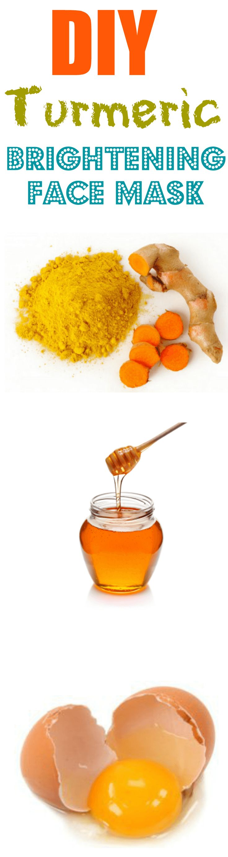 This simple, DIY turmeric brightening face mask will erase ALL skin problems within just a couple of uses!