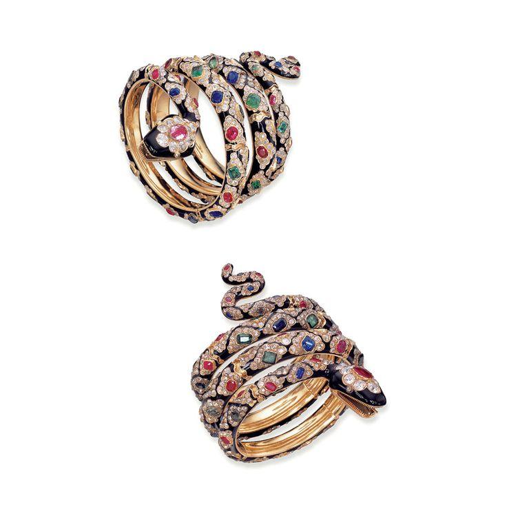 deux bracelets serpent signés Mellerio dits Meller vers 1860 © Christie's