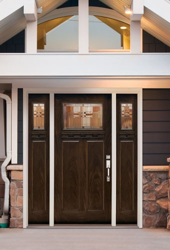 ike glass design in Feather River Door Craftsman Entry Door.