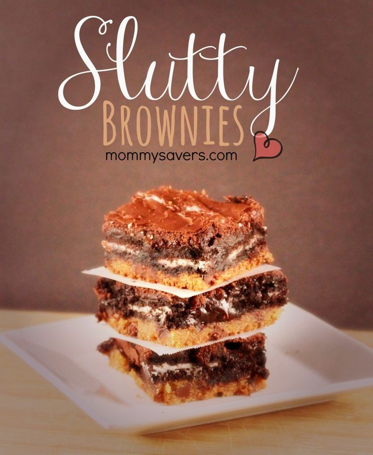 Slutty Brownie Recipe - Easy, and SINFUL! Ummm making these after my grocery shopping trip this wknd. Then I need someone to help eat them bc I would eat the whole pan.