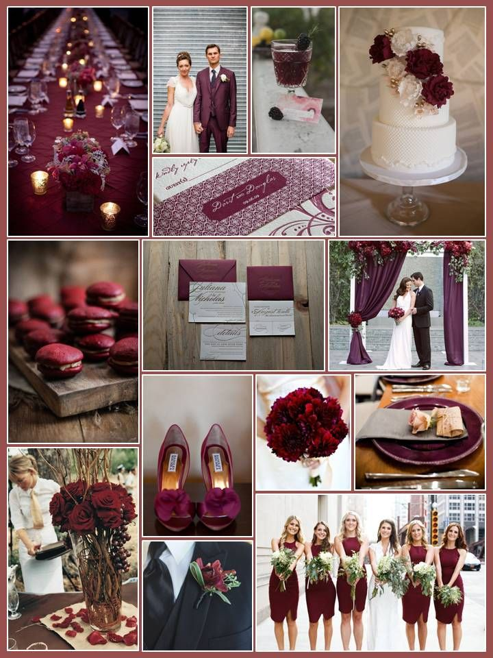 An English Rose, Luxury Lifestyle Weddings - Pantone Color of the Year 2015 Marsala