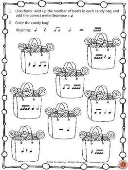 METER/TIME SIGNATURES - A FREE Halloween themed music worksheet!  There are TWO versions of the same worksheet - one using North American terminology and one using British terminology.