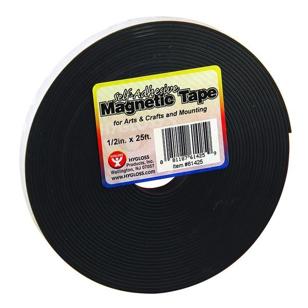 Use our magnetic tape strips to adhere crafts to nearly any metallic surface. These magnetic strips are also great for decorating school desks and chalkboards.