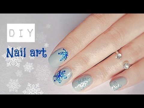 DIY Nail Art | How to make Snowflakes - YouTube