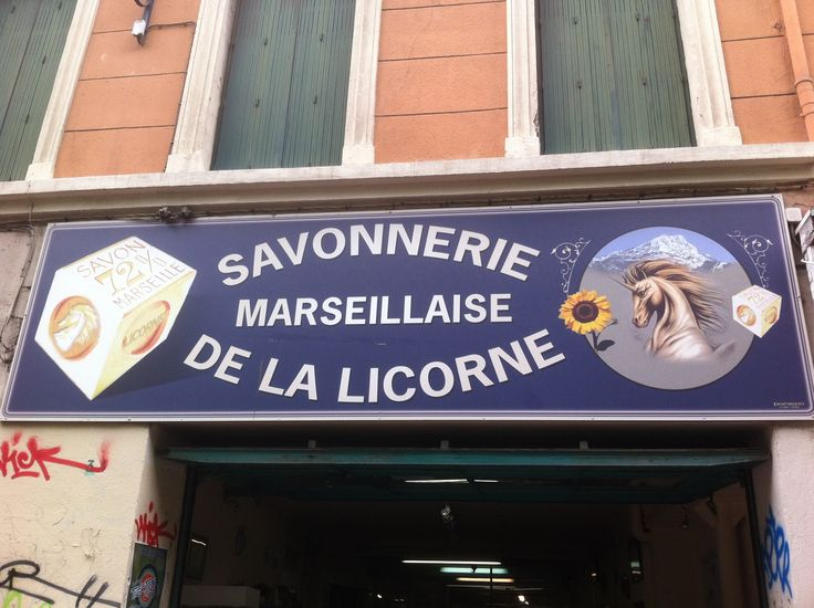 """La Savonnerie de la Licorne,34 cours Julien, is a small, family-owned working soap factory that allows you to observe and learn about a traditional process still using the historic machinery.  The shop is a good spot to pick up inexpensive and amusing souvenirs or presents such as soap shaped like sardines, cicadas, boules and footballs or perfumed with grape seeds or mare's milk.  La Savonnerie de la Licorne (the name means """"unicorn"""") is open from Monday to Friday, 9am to 6pm and Saturday…"""