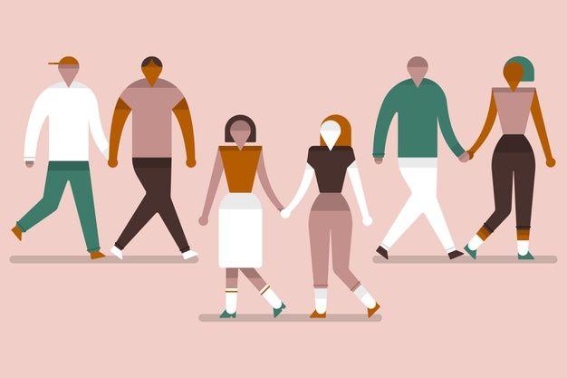Descarga Gratis Grupo De Parejas Jovenes Caminando Juntos Parejas Jovenes Parejas Jovenes