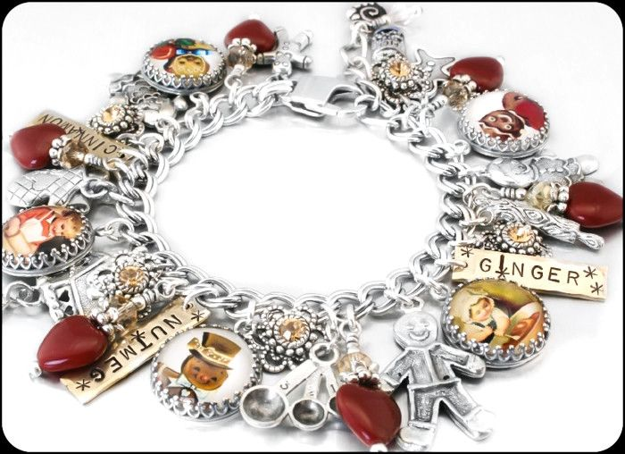 "My jewelry store features handmade jewelry, charm bracelets, necklaces, earrings, this beautiful "" Gingerbread Man"", charm bracelet and over 400 more unique jewelry designs. My jewelry is created with"