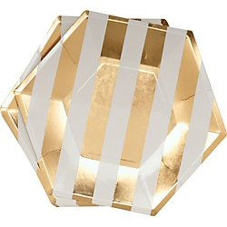 A classic harlequin pattern embellished with gold foil gives these paper party plates extra sparkle! Description from papersource.com. I searched for this on bing.com/images