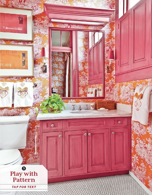 17 best images about home decor on pinterest cottages for Pink and orange bathroom ideas