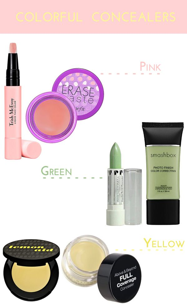 Colorful Concealers: what to do with all those colors!