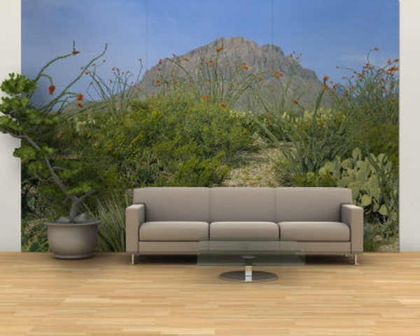 Green Forest Mountain Custom Wall Murals Ideas Part 61