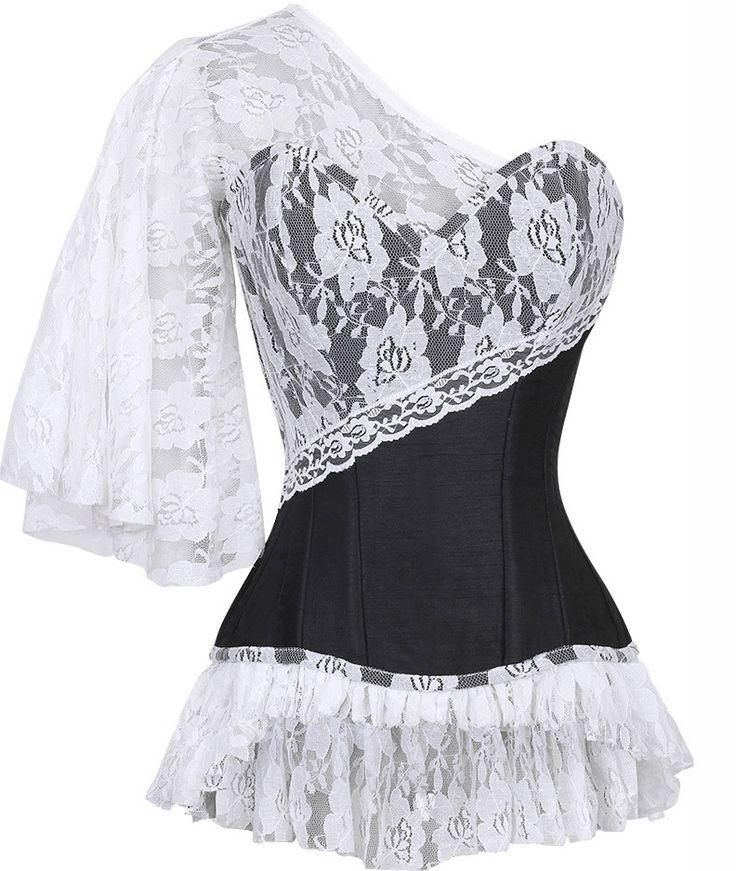 The Violet Vixen - Laced Cloud Black Corset, $106.00 (http://thevioletvixen.com/authentic-corsets/laced-cloud-black-corset/)