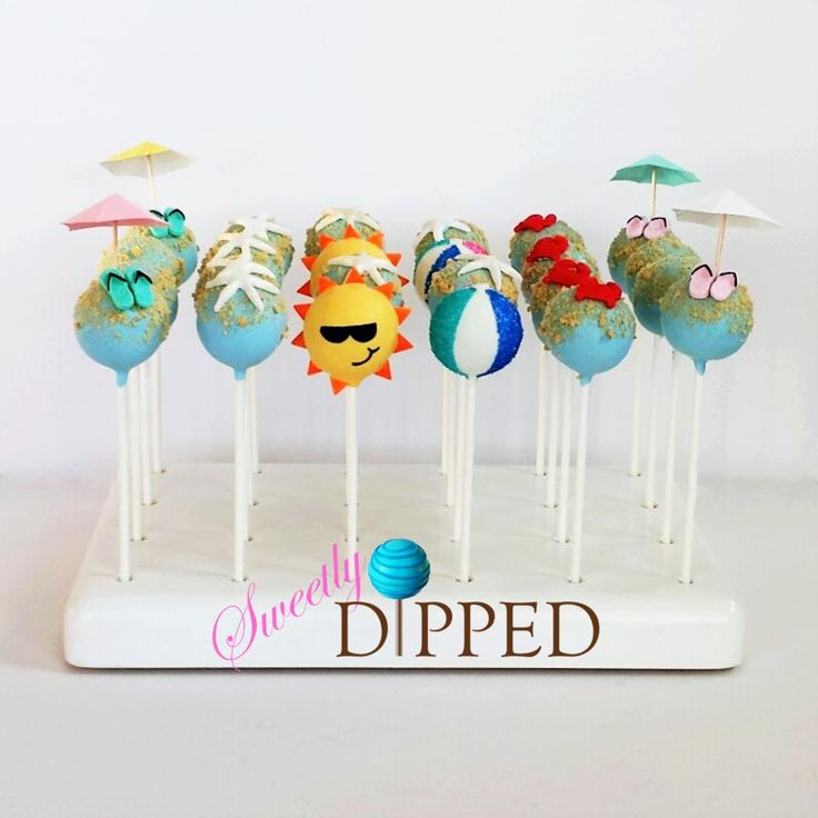 Fun cake pops perfect for a beach party!