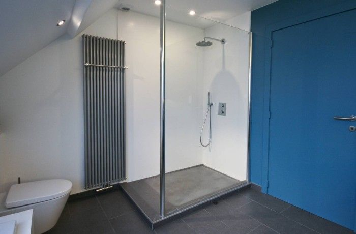 Badkamer zonder bad digtotaal for Modern douche bad