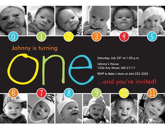 Rainbow+Timeline+1st+Birthday+Invitation+by+HelloBabyInvitations,+$15.00