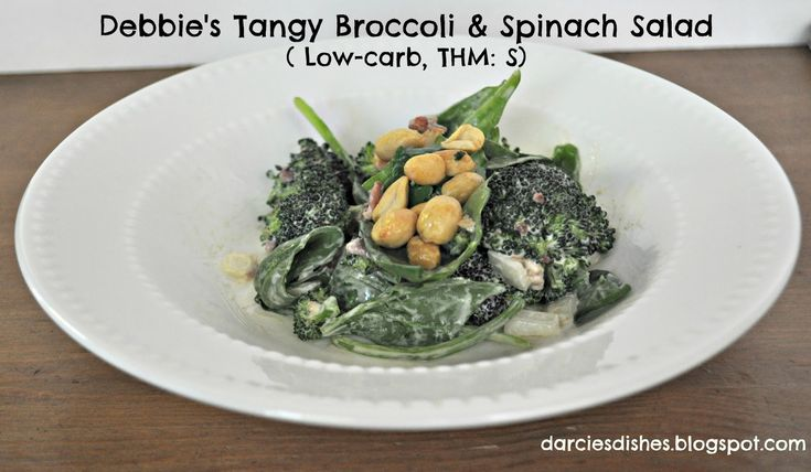 Darcie's Dishes: Debbie's Tangy Broccoli & Spinach Salad