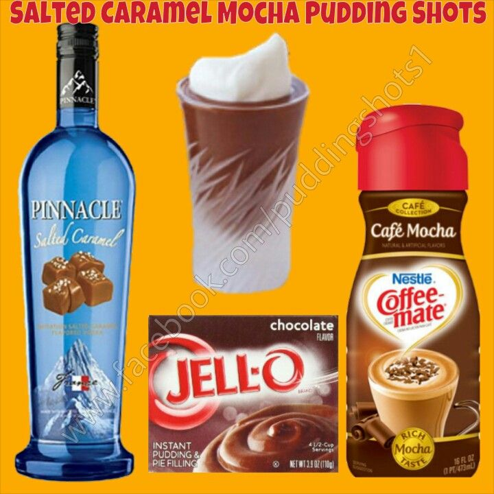 Salted Caramel Mocha I Pudding Shots.  See full recipe and more on www.facebook.com/puddingshots1