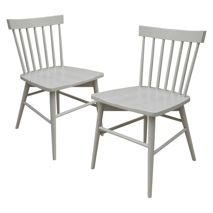 • Fun & fresh design<br>• Brilliant, glossy painted finish<br>• Classic spindle back<br>• Sturdy hardwood construction<br>• Set of 2 chairs<br>• Maximum weight capacity: 250 lbs.<br>• Assembly required<br><br>Dine in style with Threshold, Windsor Dining Chairs. These classic wooden chairs are great for everyday meals and casual entertaining. They have a comfortable pitch and stur...