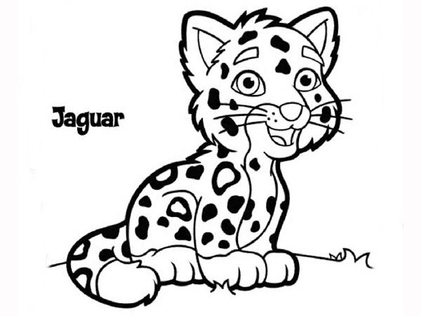 Baby Jaguar And Diego Coloring Page | Kids printable ...