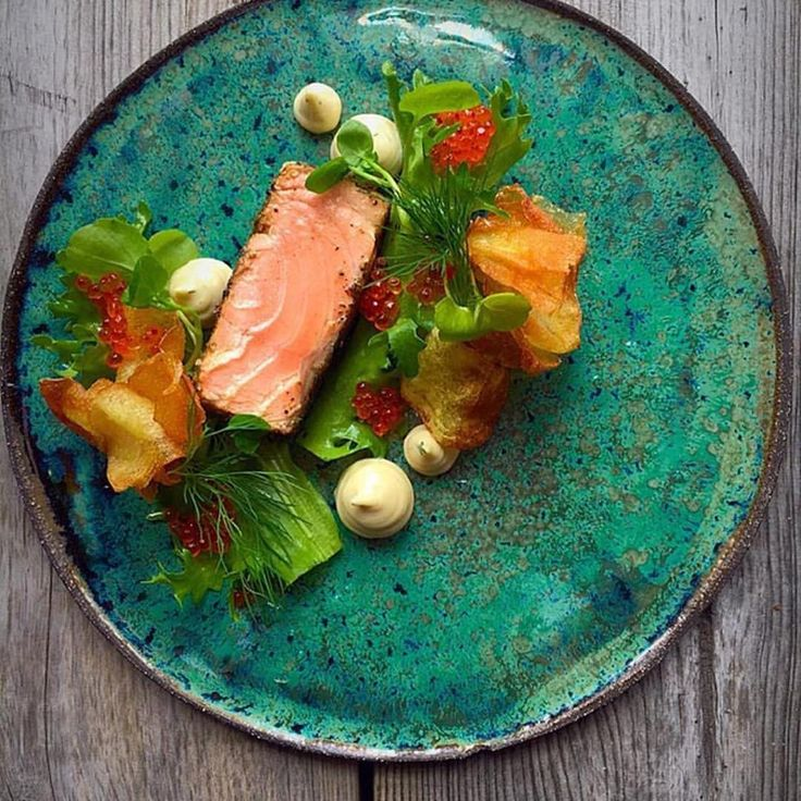 "253 Likes, 3 Comments - chefsplateform@gmail.com (@chefsplateform) on Instagram: ""Blackened salmon covered in smoked seaweed powder with a anchovies mayonnaise, trout roe, greens…"""