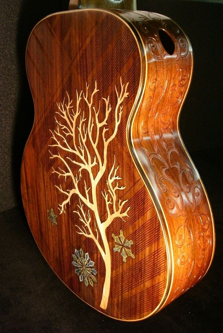 "Custom Made Blueberry ""Winter"" Acoustic Guitar - by Daniel Fonfeder"