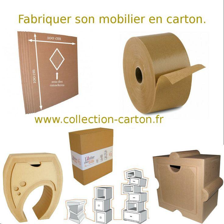 Fabriquer son mobilier en carton avec Collection Carton. http://www.collection-carton.fr/category.php?id_category=67