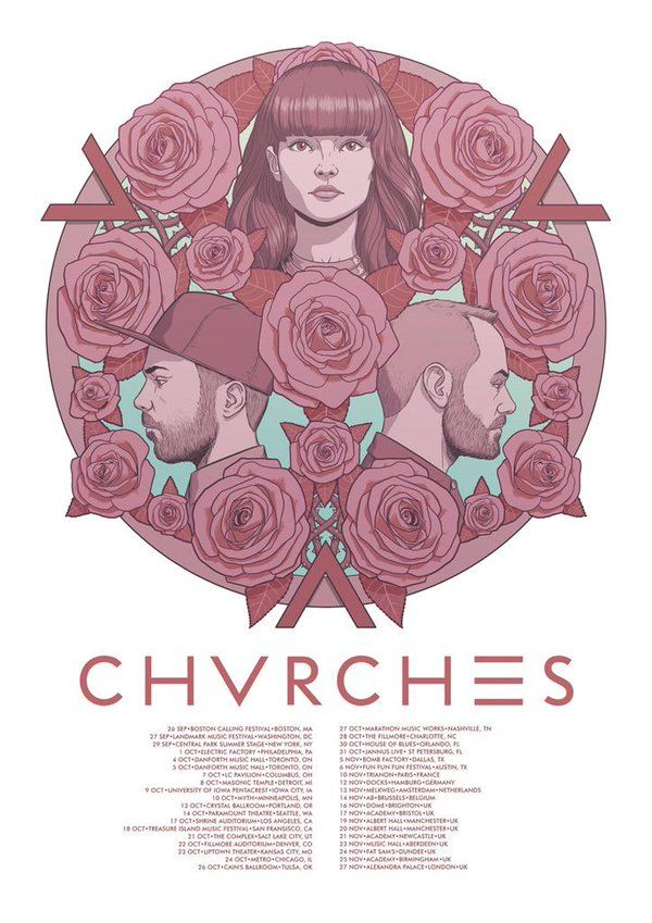 "Jamie McKelvie on Twitter: ""I did another @CHVRCHES tour poster. I ..."
