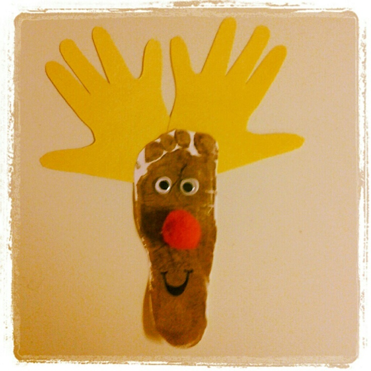 ... on Pinterest   Reindeer handprint, Reindeer and Cheap christmas crafts