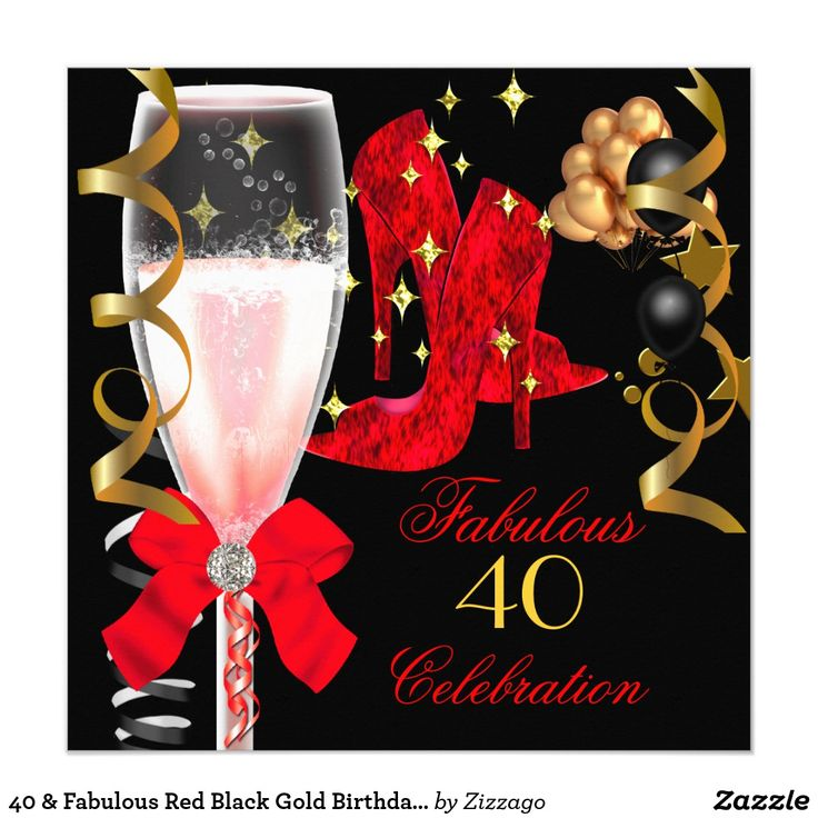 first birthday invitation template india%0A     u     Fabulous Red Black Gold Birthday Shoes Card