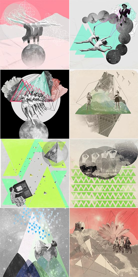 Geometry, color, pattern, collage, string ceren kilic illustration & collage #inspiration