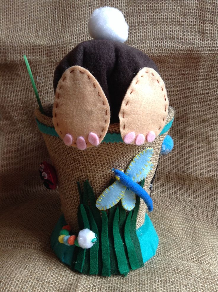"Boys version of the ""Easter Bunny"" Easter Hat, complete with insects!!"