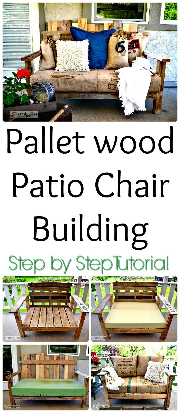 DIY Pallet Cushioned Patio Chair Tutorial - 150 Best DIY Pallet Projects and Pallet Furniture Crafts - Page 9 of 75 - DIY & Crafts