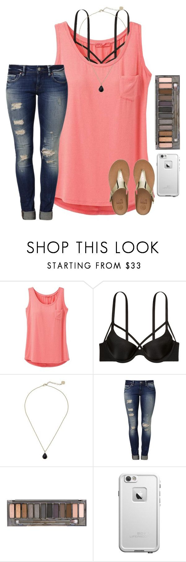 """O6. Swimming In Saltwater"" by star-lit-fashion ❤ liked on Polyvore featuring prAna, Victoria's Secret, Kendra Scott, Mavi, Urban Decay, LifeProof and FitFlop"