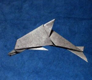 Jamie's Dolphin Origami Free Diagram Download - http://www.papercraftsquare.com/jamies-dolphin-origami-free-diagram-download.html#Diagram, #Dolphin, #Origami