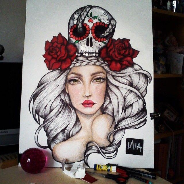 Viva la muerte // BriliantGR illustration https://www.facebook.com/Briliantpage