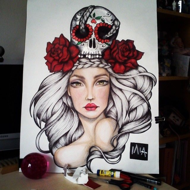 Viva la muerte // BriliantGR illustration https://www.facebook.com/Briliantpage