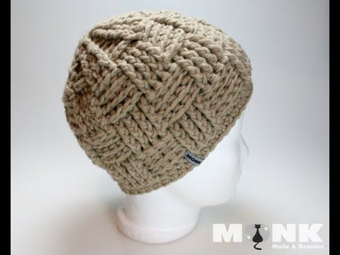 Gorro Unisex Crochet Punto Cesta - YouTube