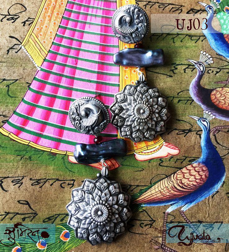 Soumeiran Ujjvala earrings with Biwa Pearls.  www.facebook.com/soumeiran