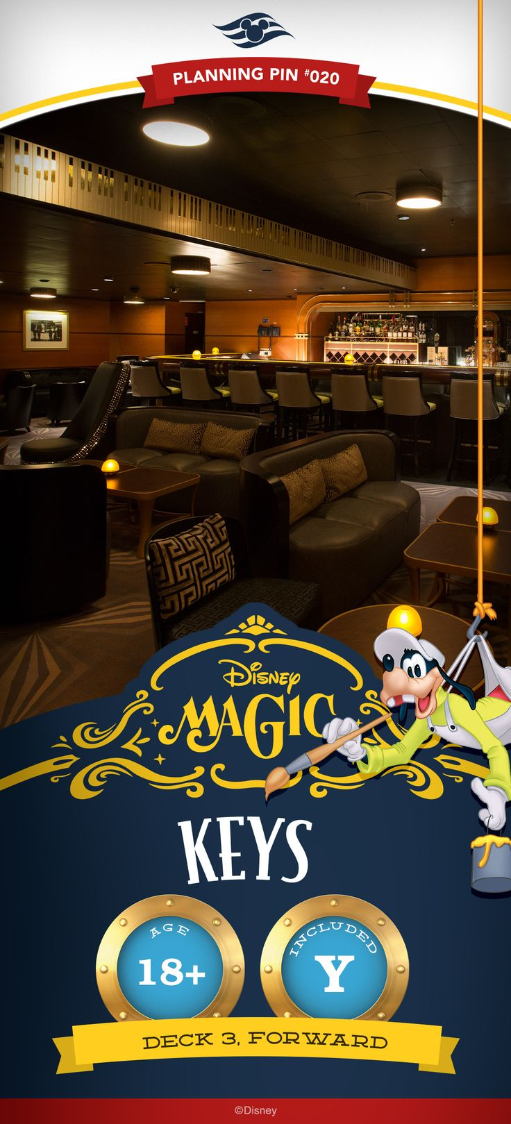 This intimate piano bar recalls the celebrated Golden Age of Hollywood, when low-lit watering holes and swanky lounges graced Tinseltown's famed Sunset Boulevard. Click to learn more about adult activities on a Disney Cruise!