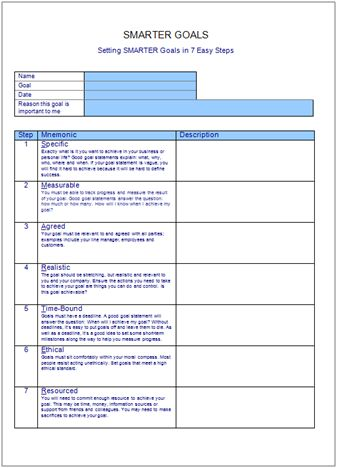 ... plans or goals for teachers | SMART Goals: Overview and Template