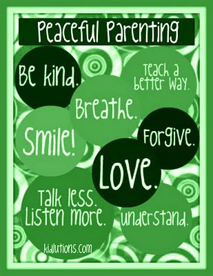 In green... #Parenting Peacefully on #StPattysDay and EVERY day!