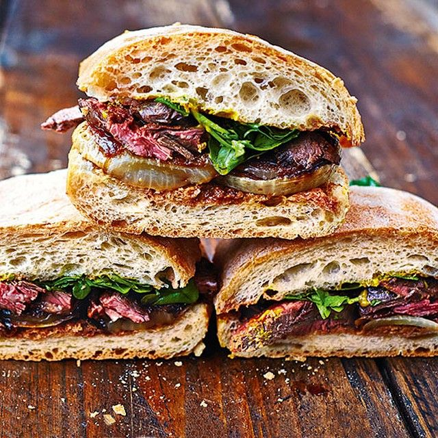 """""""This is my next-level steak and onion sandwich from my new book! Ive kinda taken the mighty steak off its pedestal a bit and putting most of the focus on awesome onions, to create the best steak sandwich EVER. On tonights episode of #ComfortFood @channel4 8pm pictures by @davidloftus"""""""