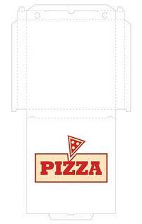"""en mini format, elle sera parfaite en embellissement : l'idéal pour évoquer les soirées vidéo ou foot, ou toutes celles où on fait le choix de ne pas cuisiner pour se consacrer à autre chose !... """"petit truc en plus"""" : créez une pizza de taille adaptée avec de la Fimo ou de la pâte à sel ! """"petit plus"""" 2 : la boîte pourra contenir le journaling, des photos supplémentaires, un souvenir... ou servir d'enveloppe à une invitation !"""