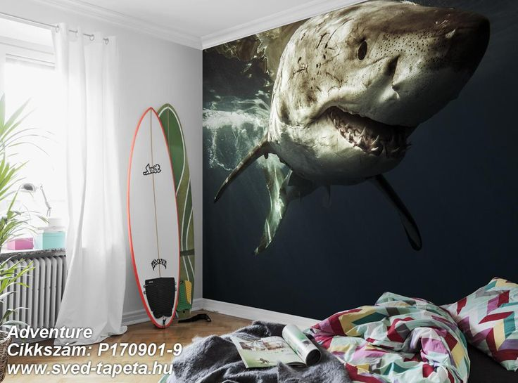 Encounter the terror of the sea from a safe distance with the wallpaper we call ADRENALINE. ☞ #wall #decor #wallpaper #design #tapeta #foto #poster