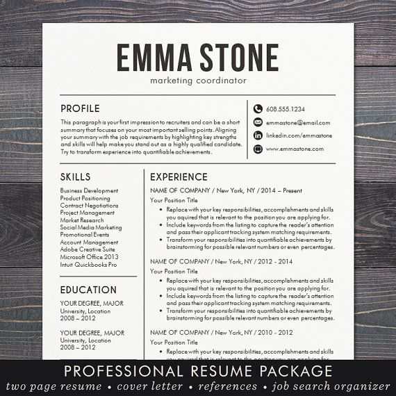 19 Best Cv Template Images On Pinterest | Resume Ideas, Resume Cv