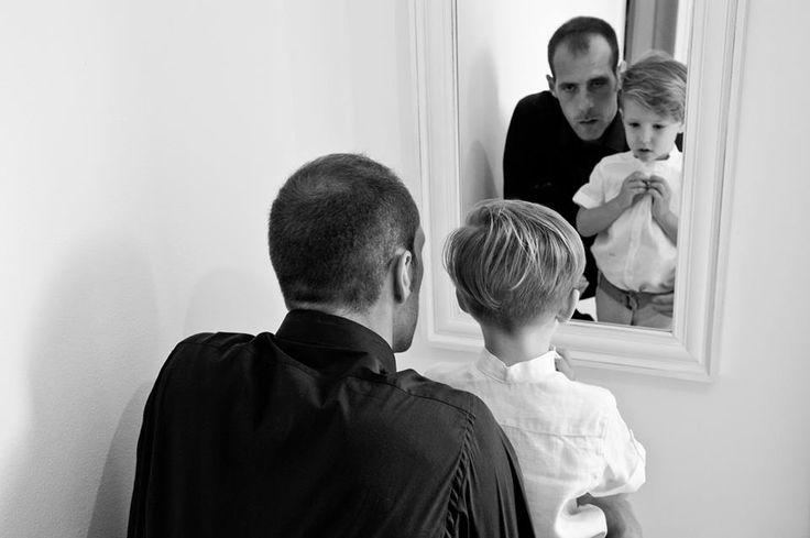 shirt, tie, mirror,son,father,white,black,boy,dad,