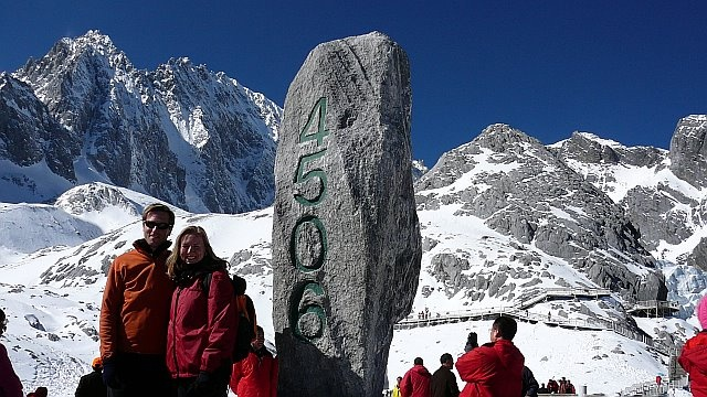 Top of Jade Dragon Snow Mountain - near Lijiang, China