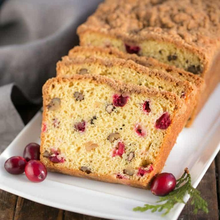 Moist, flavorful Streusel Topped Cranberry Orange Walnut Bread See it HERE! Streusel Topped Cranberry Orange Walnut Bread submitted by That Skinny Chick Can Bake You May Also LikePeach Blueberry GaletteGingered Cranberry Oatmeal CookiesCranberry Walnut BreadCookie Dough Billionaire Bars
